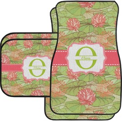 Lily Pads Car Floor Mats Set - 2 Front & 2 Back (Personalized)