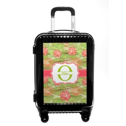 Lily Pads Carry On Hard Shell Suitcase (Personalized)