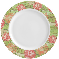 Lily Pads Ceramic Dinner Plates (Set of 4) (Personalized)