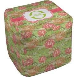 Lily Pads Cube Pouf Ottoman (Personalized)