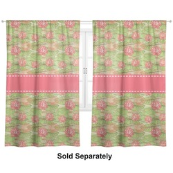 "Lily Pads Curtains - 20""x84"" Panels - Lined (2 Panels Per Set) (Personalized)"