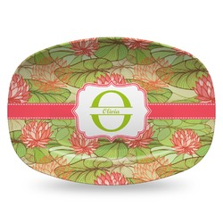 Lily Pads Plastic Platter - Microwave & Oven Safe Composite Polymer (Personalized)