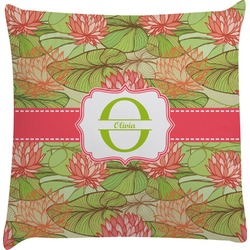 Lily Pads Decorative Pillow Case (Personalized)