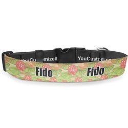 Lily Pads Deluxe Dog Collar (Personalized)
