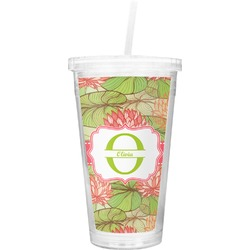 Lily Pads Double Wall Tumbler with Straw (Personalized)