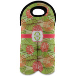 Lily Pads Wine Tote Bag (2 Bottles) (Personalized)