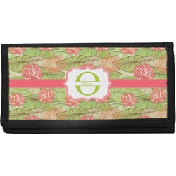 Lily Pads Canvas Checkbook Cover (Personalized)