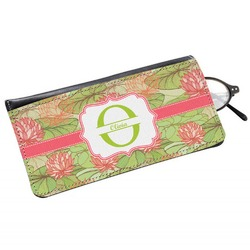 Lily Pads Genuine Leather Eyeglass Case (Personalized)
