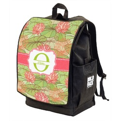 Lily Pads Backpack w/ Front Flap  (Personalized)