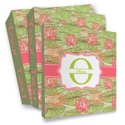 Lily Pads 3 Ring Binder - Full Wrap (Personalized)