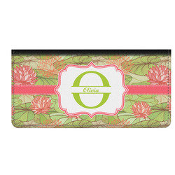 Lily Pads Genuine Leather Checkbook Cover (Personalized)