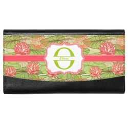 Lily Pads Genuine Leather Ladies Wallet (Personalized)