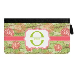 Lily Pads Genuine Leather Ladies Zippered Wallet (Personalized)