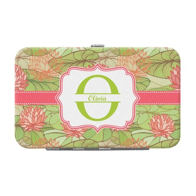 Lily Pads Genuine Leather Small Framed Wallet (Personalized)