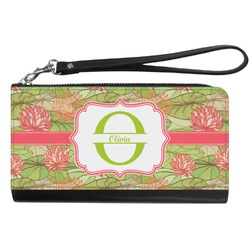 Lily Pads Genuine Leather Smartphone Wrist Wallet (Personalized)