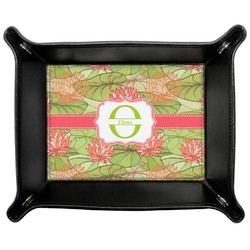 Lily Pads Genuine Leather Valet Tray (Personalized)