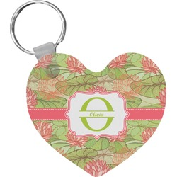 Lily Pads Heart Keychain (Personalized)