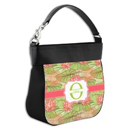 Lily Pads Hobo Purse w/ Genuine Leather Trim (Personalized)