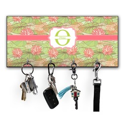 Lily Pads Key Hanger w/ 4 Hooks (Personalized)