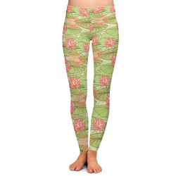 Lily Pads Ladies Leggings - Large (Personalized)