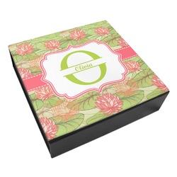 Lily Pads Leatherette Keepsake Box - 3 Sizes (Personalized)