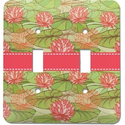 Lily Pads Light Switch Cover (2 Toggle Plate) (Personalized)