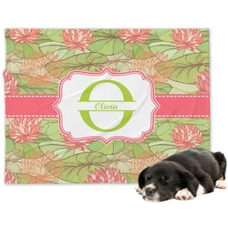 Lily Pads Minky Dog Blanket - Large  (Personalized)