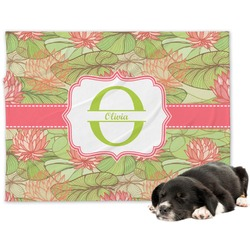Lily Pads Minky Dog Blanket (Personalized)