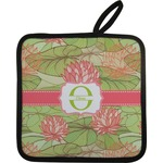 Lily Pads Pot Holder w/ Name and Initial