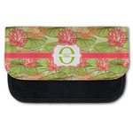 Lily Pads Canvas Pencil Case w/ Name and Initial