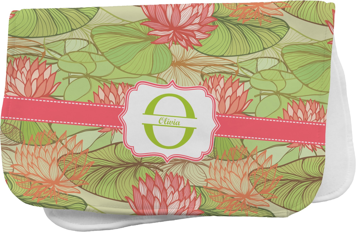 Lily Pads Burp Cloth Personalized Youcustomizeit
