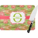 Lily Pads Rectangular Glass Cutting Board (Personalized)