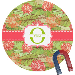 Lily Pads Round Magnet (Personalized)