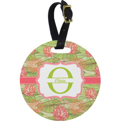 Lily Pads Round Luggage Tag (Personalized)
