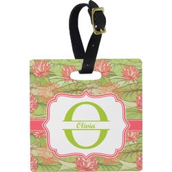Lily Pads Square Luggage Tag (Personalized)