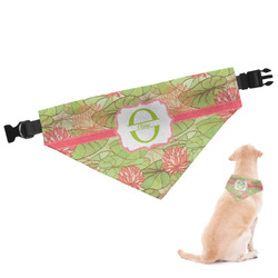 Lily Pads Dog Bandana - Large (Personalized)