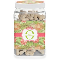 Lily Pads Pet Treat Jar (Personalized)