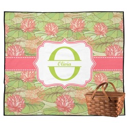 Lily Pads Outdoor Picnic Blanket (Personalized)