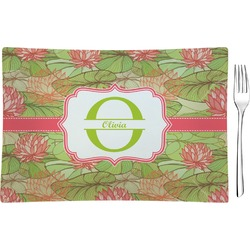 Lily Pads Glass Rectangular Appetizer / Dessert Plate - Single or Set (Personalized)