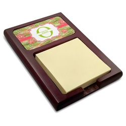 Lily Pads Red Mahogany Sticky Note Holder (Personalized)