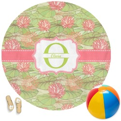Lily Pads Round Beach Towel (Personalized)
