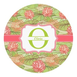 Lily Pads Round Decal - Custom Size (Personalized)