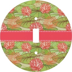 Lily Pads Round Light Switch Cover (Personalized)