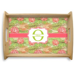 Lily Pads Natural Wooden Tray (Personalized)