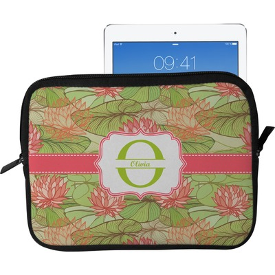 Lily Pads Tablet Case / Sleeve - Large (Personalized)