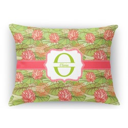 Lily Pads Rectangular Throw Pillow Case (Personalized)