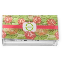 Lily Pads Vinyl Checkbook Cover (Personalized)