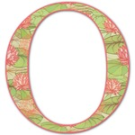 Lily Pads Letter Decal - Custom Sizes (Personalized)