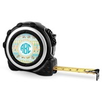 Abstract Teal Stripes Tape Measure - 16 Ft (Personalized)