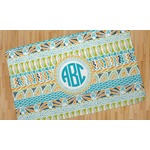 Abstract Teal Stripes Area Rug (Personalized)